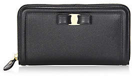 Salvatore Ferragamo Women's Vara Leather Zip-Around Wallet
