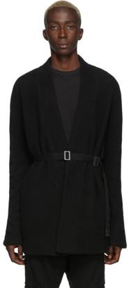 Boris Bidjan Saberi Black Wool Short Cardigan