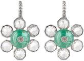 NSR NINA RUNSDORF Diamond, emerald & white-gold earrings