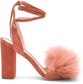 Loeffler Randall Nicolette Fox Fur Heel in Rose. - size 10 (also in 6,6.5,7.5,8,8.5,9.5)
