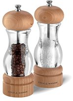 Cole & Mason Precision Grind 105 Salt and Pepper Mill Gift Set - Acrylic and Beech Wood/Clear, 16.5 cm