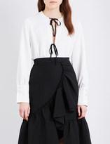 Rachel Comey Meryl tie-front crepe blouse