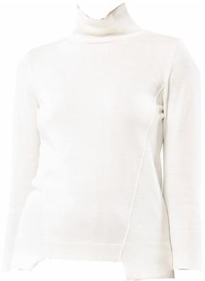 Cotton Silk 3/4 Sleeve Turtle Neck Sweater