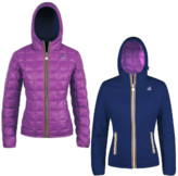 K-Way K Way Depht Blue and Violet Lily Thermo Plus Double Womens Jacket - 6