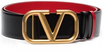 Valentino VLOGO buckle leather belt