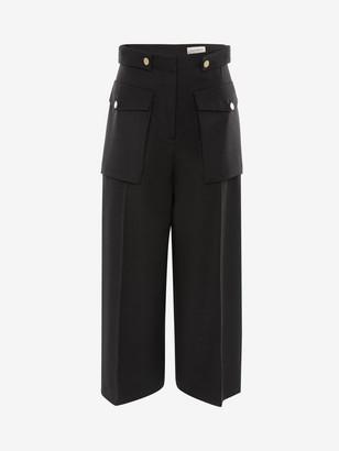 Alexander McQueen Military Wide Leg Pants