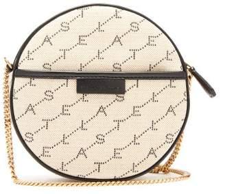 Stella McCartney Mini Round Monogram-canvas Cross-body Bag - Womens - Beige Multi