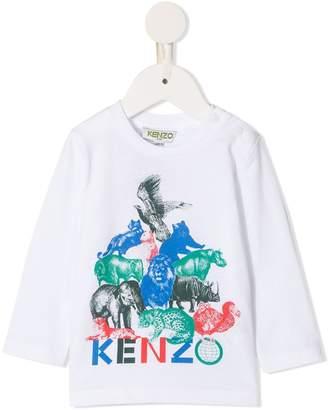Kenzo logo graphic print top