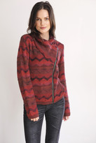 Goddis Lany Bomber Knit Jacket In Indian Rust