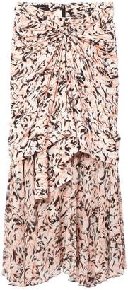 Proenza Schouler Pink Abstract Layered Midi Skirt
