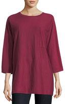 Eileen Fisher Fine Merino Jersey 3/4-Sleeve Top