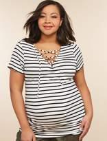 Motherhood Maternity Plus Size Tie Front Maternity Shirt
