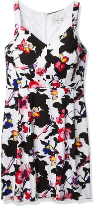 Robbie Bee Women's 1 Pc Printed Sleeveless Missy Dress