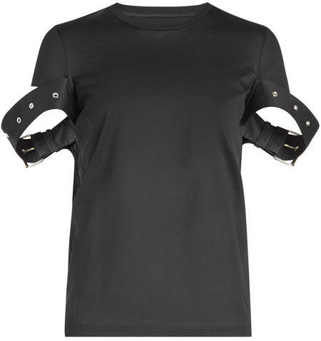 Marques Almeida Marques' Almeida Belt Sleeve Cotton T-Shirt