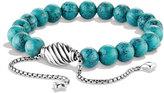 David Yurman Spiritual Beads Bracelet w/Chinese Turquoise