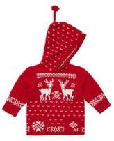 Ralph Lauren Girl's Reindeer Zip-Back Sweater