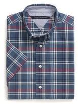 Tommy Hilfiger Custom Fit Plaid Short Sleeve Shirt