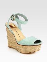 Suede Platform Espadrille Wedge Sandals