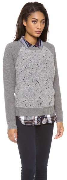 Madewell Boucle Panel Sweater