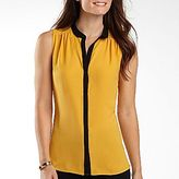 JCPenney Worthington® Contrast Sleeveless Blouse