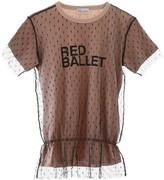 RED Valentino Red Ballet Point D'Esprit T-Shirt