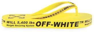 Off-White Logo Flip Flops