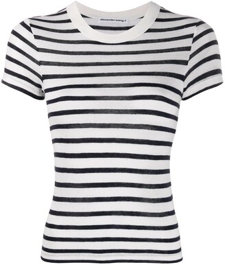 Alexander Wang striped print t-shirt