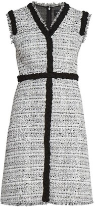 Giambattista Valli Braided Tweed Sheath Dress