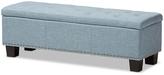Baxton Studio Light Blue Hannah Storage Bench