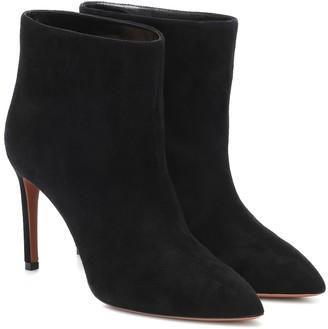 Alaã ̄A Suede ankle boots