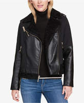 Tommy Hilfiger Faux-Fur-Trim Moto Jacket, Created for Macy's