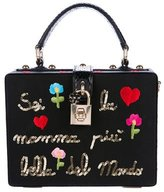 Dolce & Gabbana 2015 Snakeskin-Trimmed Mamma Bag w/ Tags