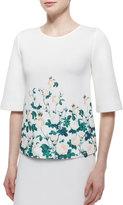 Erin Fetherston Half-Sleeve Floral-Print Top