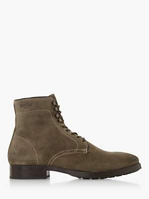 Bertie Conglomerate Suede Lace Up Casual Boots, Grey