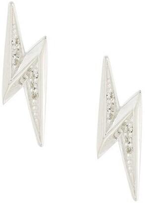Astley Clarke 'Mini Lightning Bolt Biography' stud earrings