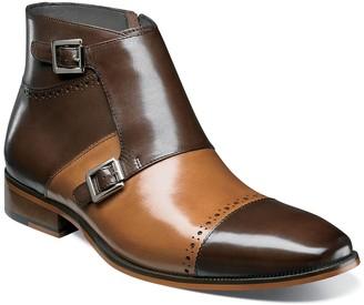 Stacy Adams Kason Cap Toe Double Monk Strap Boot