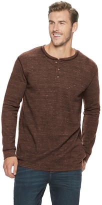 Sonoma Goods For Life Big & Tall Supersoft Modern-Fit Thermal Henley