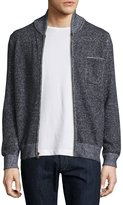 Billy Reid Donegal-Knit Track Jacket, Navy