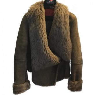 Carolina Herrera Green Leather Coat for Women