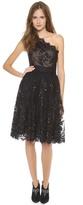Marchesa One Shoulder Lace Dress