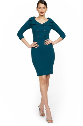 New York & Co. Shawl-Collar Sheath Dress - Magic Crepe