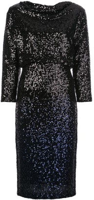 Badgley Mischka Sequin Midi Dress