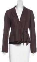 BCBGMAXAZRIA Wool-Blend Plaid Blazer
