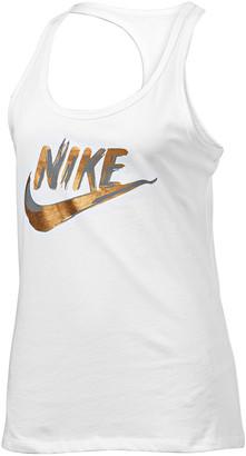 Nike Womens Sportswear Metallic Tank
