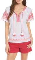 Vineyard Vines Women's Embroidered Top