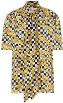 Balenciaga Scarf printed silk-satin shirt