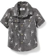 Old Navy Printed Pocket Shirt for Toddler Boys