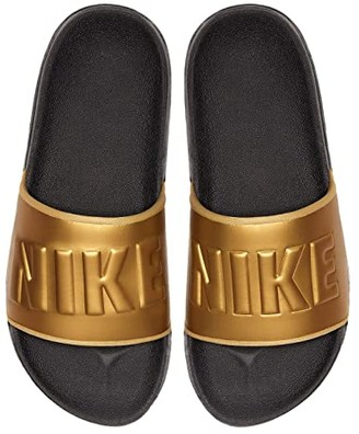 Nike OffCourt Slide (Anthracite/Metallic Gold/Black) Women's Sandals