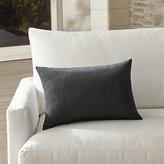 Crate & Barrel Sunbrella ® Charcoal Outdoor Lumbar Pillow
