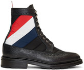 Thom Browne Black Quilted Nylon High Boots